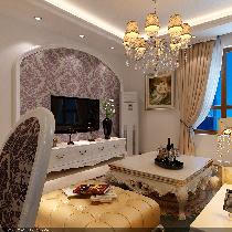 浪漫奢华之家 7.3万装修熙兆嘉园简欧95平米三居效果图