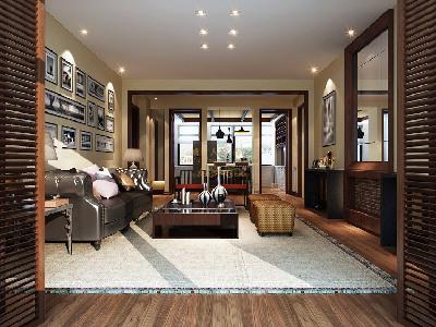 乳白色的墙面与顶面乳胶漆,给空间带来干净,利落的感觉。