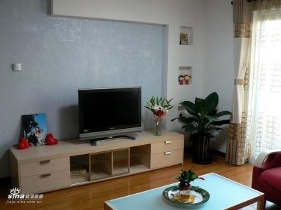 电视墙&曲美电视柜