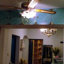 先看看偶最喜欢的吊扇灯(300米)