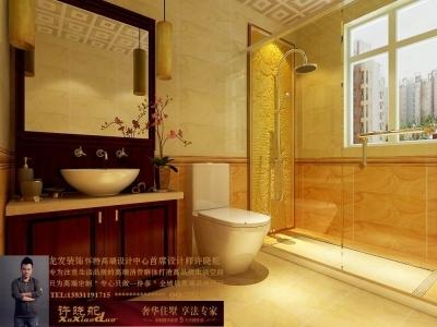 龙发装饰首席设计师许晓舵-名门华都200平米宫廷中式风格客卫生间