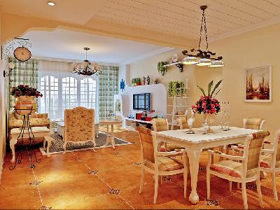 长沙实创装饰-170平英式田园风格四居室