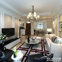 客厅装修效果图 沙发背景与电视背景相互相应,搭配后现代的奢华家具。简单了,但是并不普通。
