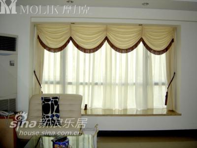 客厅飘窗 窗帘染色淡雅在摩力克买的呵呵朋友介绍