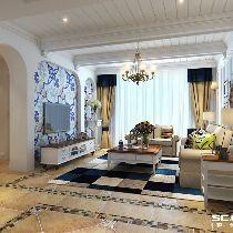 【上海实创装饰】崇明怡祥居200平别墅地中海风格的自然完美家园