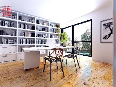 北欧简约大宅设计——书房