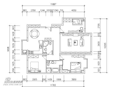 房型图,原结构比较合理,基本没有大的变动
