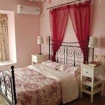 卧室布艺温馨浪漫粉色