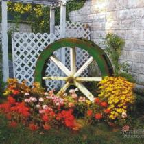 庭院水车装饰自然环保,风水吉祥