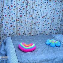 偶的卧房,没买床架,做了个塌塌米,扔个床垫就可睡人了,呵呵