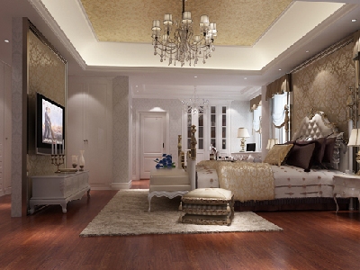这是一渡新新小镇一套640㎡尊贵典雅混搭专业别墅设计。设计师在于业主沟通过程中,了解到业主的需求是舒适温馨、典雅大气、高品质的家庭度假休闲第二居所。其中女业主喜欢欧式典雅的室内装饰效果,男业主喜欢具有中式文化内涵的室内装饰效果 ;所以综合夫妇二人的喜好与生活习惯,设计师将本案别墅装修风格定位为有欧式新古典元素与新中式元素结合的尊贵典雅的居住环境。