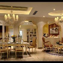 中海国际林庭叠院装修 简欧风格 餐厅设计图 设计咨询13881867673