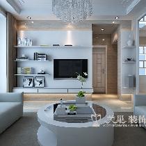 建海绿荫半岛三室两厅装修效果图-现代雅致充溢样板间