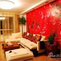 发一张客厅的PP红色的主题