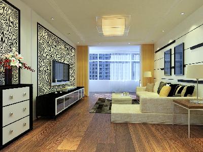哈尔滨实装饰8.7万打造百年新城小区现代温馨之家