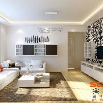 尚上名筑-简约风格-126平米三居室装修