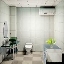 我用的是嘉西木桶一套的卫浴,跟这个很不同。热水器也放到楼上了。