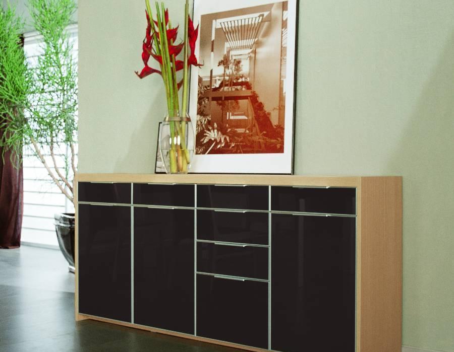耐特利尔原橡木系列咖啡色餐边柜咖啡色