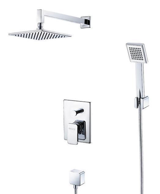 宝卓51425600A卡略拉系列挂墙式双花洒及浴缸出51425600A