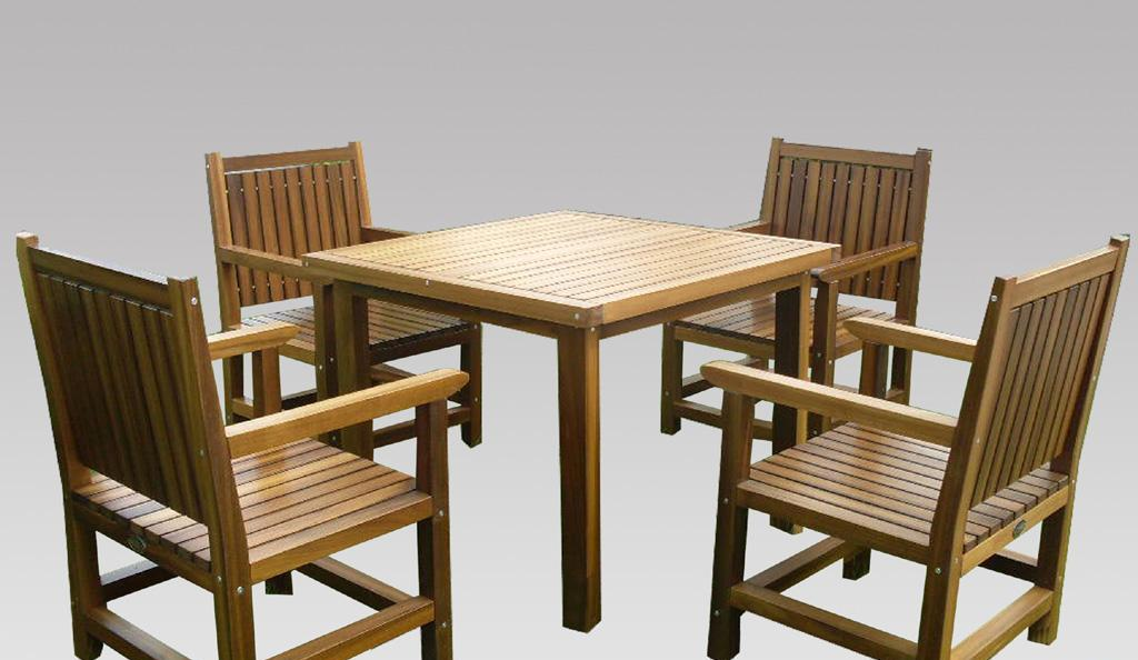 EcoG溢柯金丝柚木麦瑞斯方桌