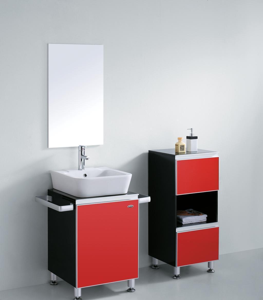 ►法恩莎实木浴室柜FPGM4651(含银镜/镜灯/主柜/侧柜)FPGM4651
