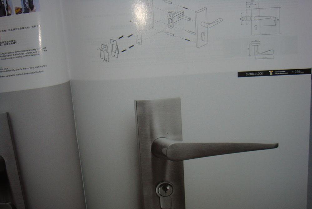 顶固房门锁小弹子插芯门锁CTG3708SNCTG3708SN