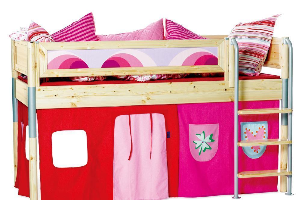 丹麦芙莱莎儿童家具中高床组合MIK2(本木色)MIK2