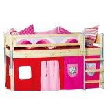 丹麦芙莱莎儿童家具中高床组合MIK2(本木色)