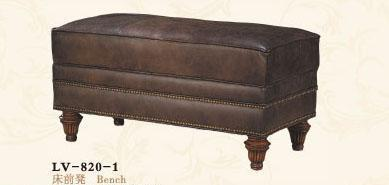 大风范家具路易十六卧室系列LV-820-1床前凳LV-820-1床前凳
