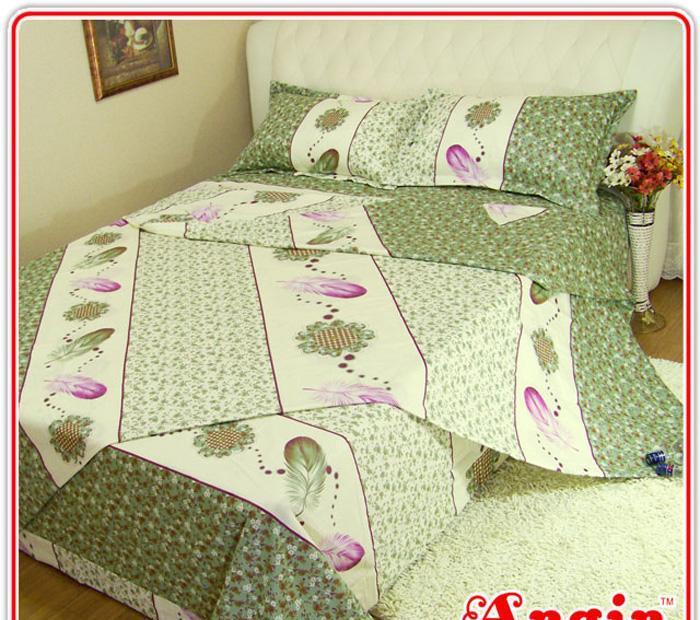 安寝家纺清新雅丽高级斜纹床上用品四件套