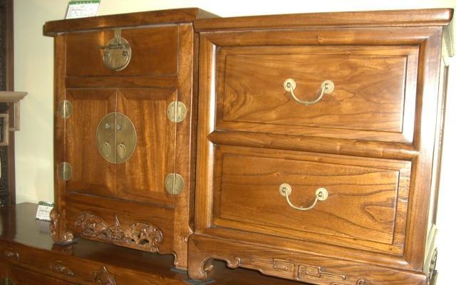 明清华盛卧室家具樟木床头柜床头柜