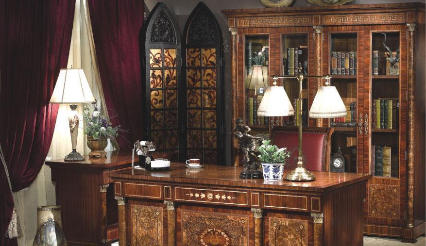 大风范家具奥菲斯书房系列OP-554四门书柜OP-554四门书柜