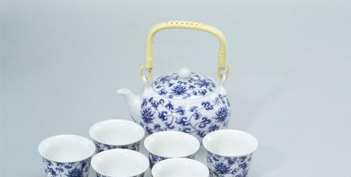 恒福茶具仿古洋莲壶杯组1壶6杯