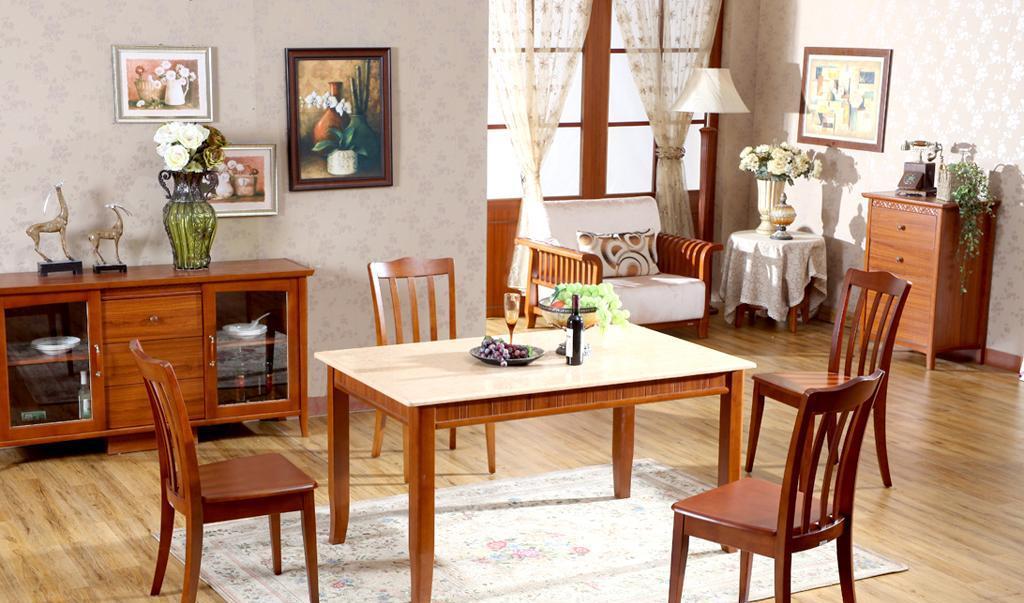树之语水木年华系列-深色CZ9860餐桌<br />CZ9860