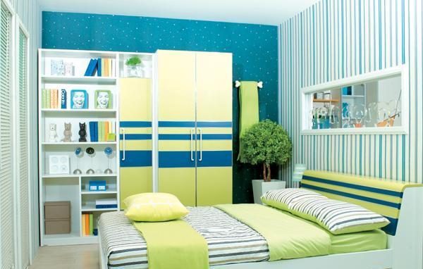 七彩人生整体卧室蓝绿组合Q5-BP232SMQ5-BP232SM