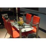 国顺玻璃餐桌椅