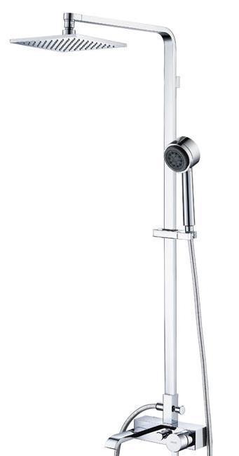 宝卓55425801A博卡系列挂墙式双花洒及浴缸出水