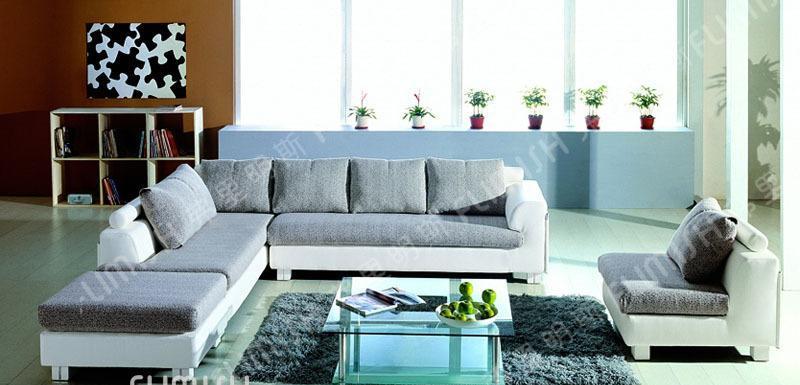 弗里明斯B101#大款皮配布沙发B101#