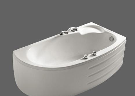 美加华压克力双裙浴缸(左/右)M-1530SQ(含去水/M-1530SQ