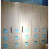 诺捷板式家具系列-二门衣柜-6A006B+6A214-B