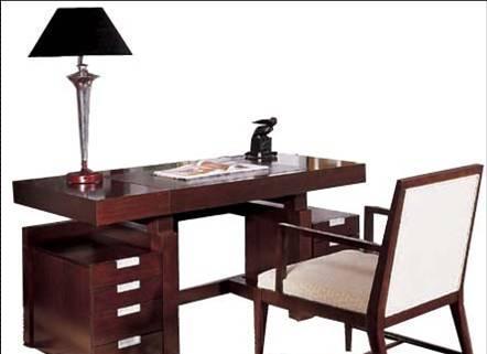 美凯斯书房家具写意东方系列书台M-C302D(R087-0M-C302D(R087-03仿皮)