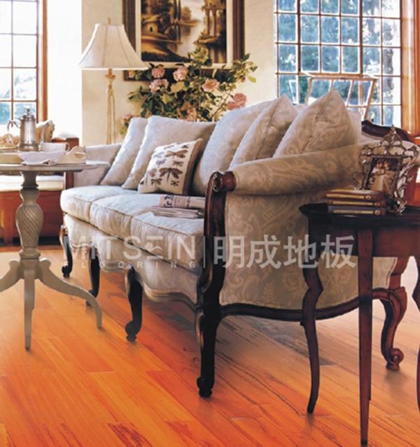 明成斑纹漆木实木地板(虎纹木)