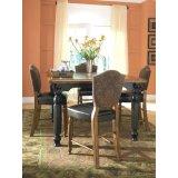 罗琳河域ROWLEY CREEK-24英寸皮吧台椅,正方形高餐桌