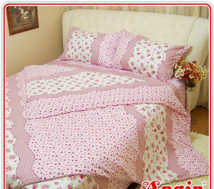 安寝家纺紫色伊梦高级斜纹床上用品四件套紫色伊梦