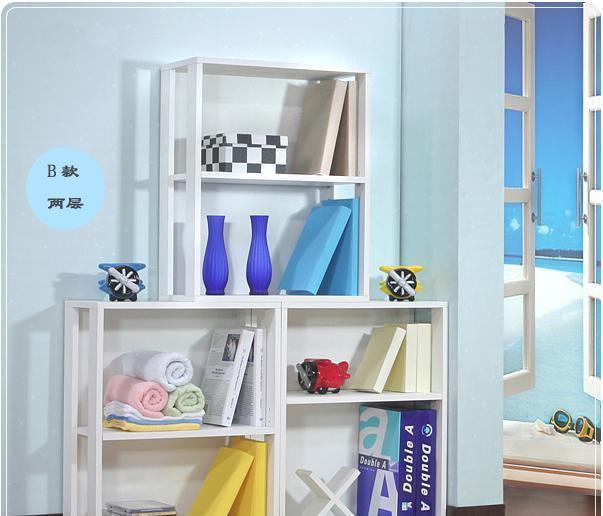 彭友家私HSB42韩式两层书柜HSB42