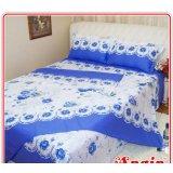 安寝家纺今世有约(蓝色)高级斜纹床上用品四件