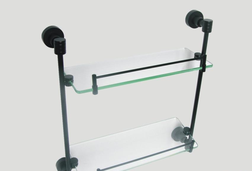 成霖高宝双层玻璃置物架GD-6210BSGD-6210BS
