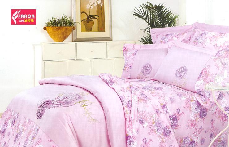 法诺雅大被套床上用品四件套全棉斜纹印加绣HY35HY35