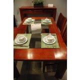 大器玻璃面长方餐桌