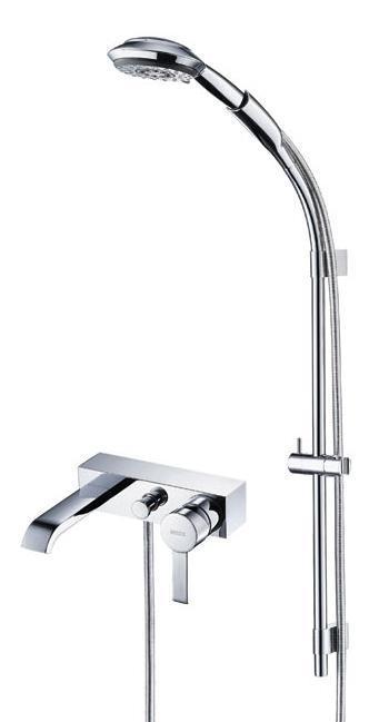 宝卓55415801C博卡系列挂墙式浴缸龙头及手持花55415801C